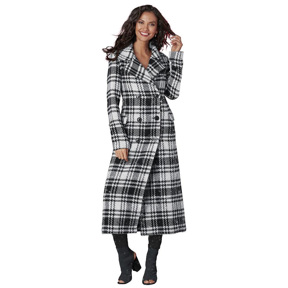 70s Jackets & Hippie Vests, Ponchos Patterned Long Coat Multi Coats 1X $139.95 AT vintagedancer.com