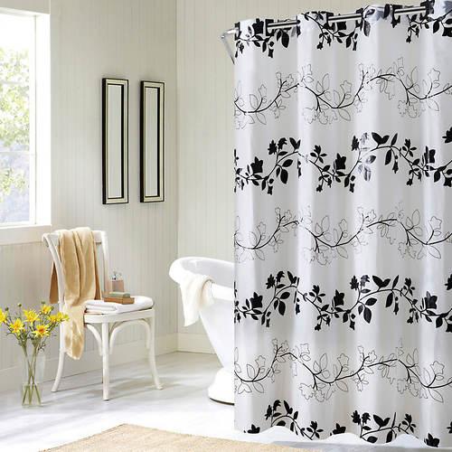 Surefit Floral Vine Print Hookless Shower Curtain