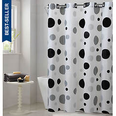 Surefit Retro Dots Hookless Shower Curtain