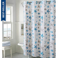 Surefit Sea Shell Print Hookless Shower Curtain