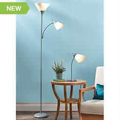 2-Piece Floor/Desk Lamp Set