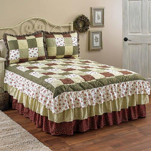 Triple Ruffle Bedspreads
