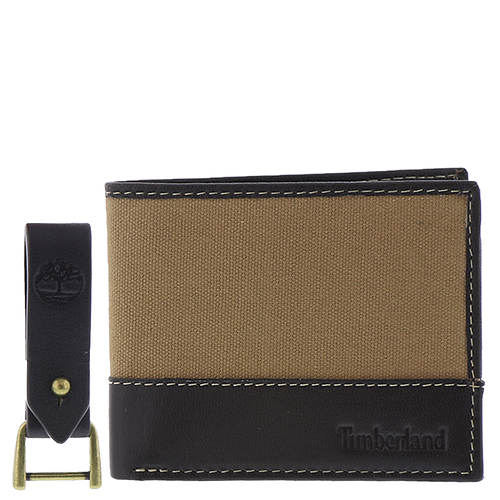 Timberland Men's Canvas Billfold With Key Fob
