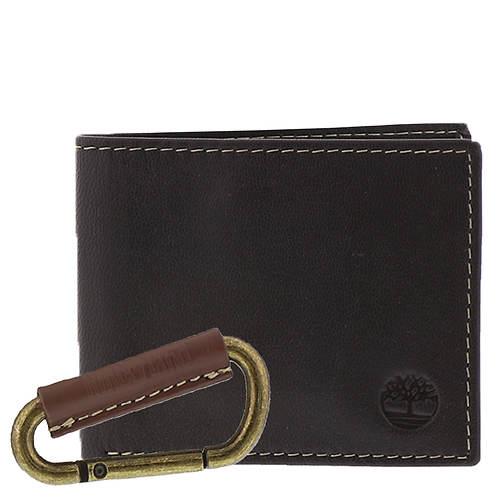 Timberland Men's Wallet & Caribiner Set