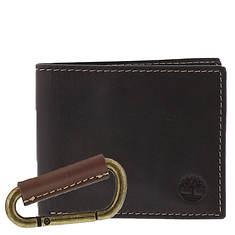 Timberland Men's Wallet & Carabiner Set