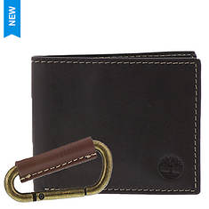 Timberland Men's Wallet & Carabiner Set