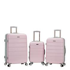 Rockland Melbourne 3-Piece ABS Luggage Set