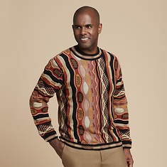 Men's Swirl-Knit Sweater