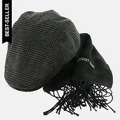 Stacy Adams Men's Ivy Cap and Scarf Gift Set