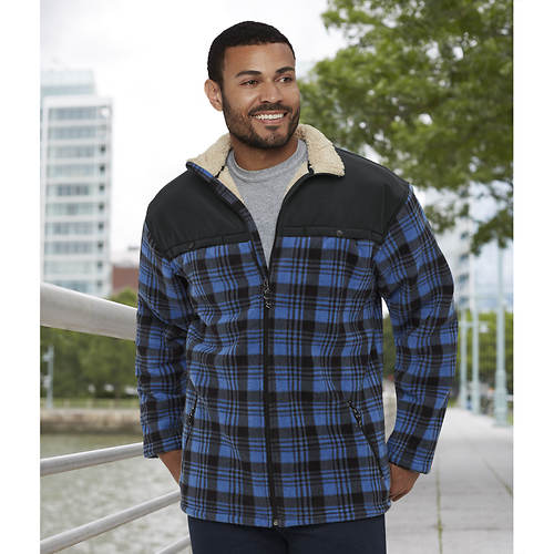 Men's Plaid Sherpa-Lined Jacket