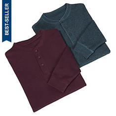 Men's 2-Pack Thermal Henley Shirts