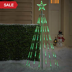 4 Ft. Color Changing Bubble Light Tree