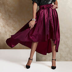 High-Low Taffeta Skirt