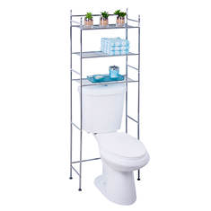 Honey-Can-Do 3-Tier Metal Bathroom Shelf