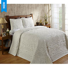 Trevor Chenille Bedspread and Pillow Shams
