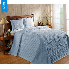 Trevor Chenille Bedspread and Pillow Shams