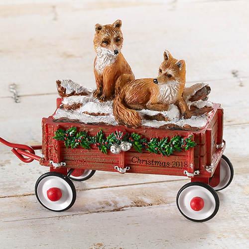 2018 Ltd Ed Red Wagon Ornament