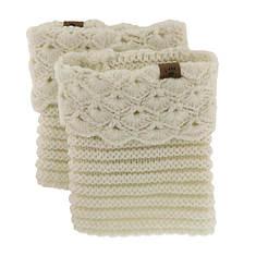 BEARPAW Women's Scallop Crochet Boot Topper