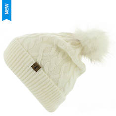 BEARPAW Women's Cable Knit Hat with Pom Pom