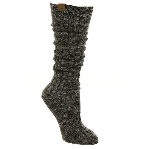 BEARPAW Women's Marl Slub Boyfriend Slouch Knee Hi Socks