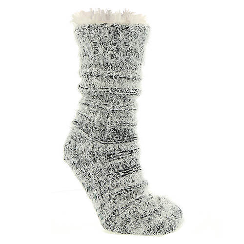BEARPAW Women's Ottoman Rib Sherpa Slipper Sock