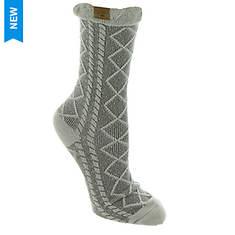 BEARPAW Women's Lattice Texture Crew Socks