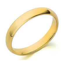 10K Gold 3mm Plain Wedding Band