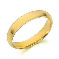 10K Gold 4mm Plain Wedding Band