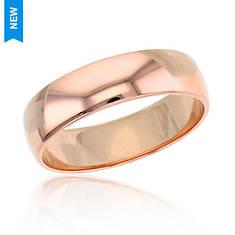 14K Gold 5mm Plain Wedding Band