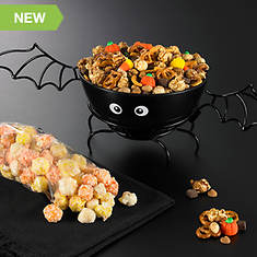 Bat Bowl With Fall Snacks