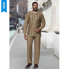 Men's Studded-Front Sweater Set