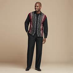 Men's Zigzag-Knit Sweater Set