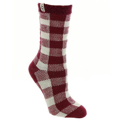 UGG® Vanna Check Fleece-Lined Sock