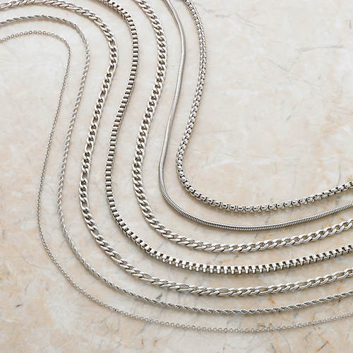 Set of 7 Stainless Steel Chains