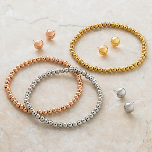 Set of 6 Bracelets and Earrings