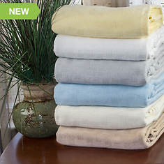 Cotton Silk Woven Blanket