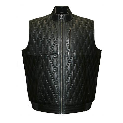 Franchise Club Men's Diamond Leather Vest