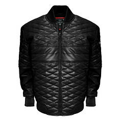 Franchise Club Men's Diamond Leather Bomber Jacket