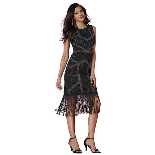 Studded Fringe Dress