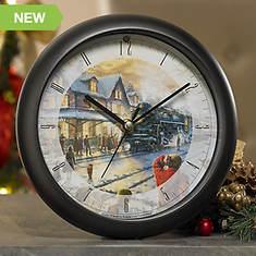 Thomas Kinkade Lionel Christmas Carol Clock