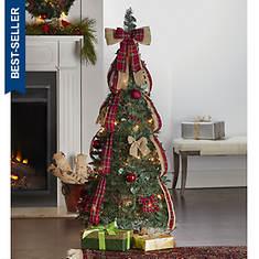 4.5' Pop-Up Pre-Lit/Pre-Decorated Tree