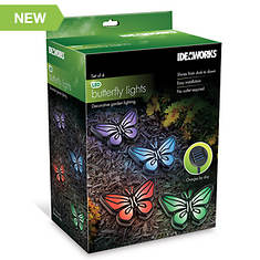 Ideaworks Solar Butterfly Lights 4-Pack