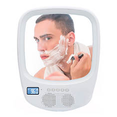 QFX Bluetooth Shower Mirror with Radio