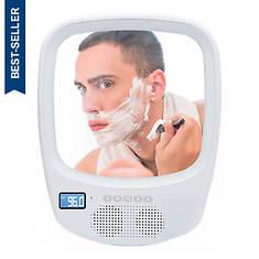 QFX Shower Mirror Speaker With Bluetooth/Radio