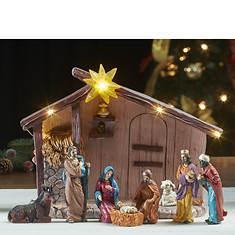 Lighted Tabletop Nativity Set