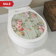 Toilet Tattoos®-Shiplap Floral