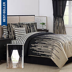 Patterned 24-Piece Bed-In-A-Bag Set