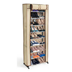 Ideaworks 30-Pair Shoe Rack with Cover