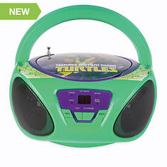 Teenage Mutant Ninja Turtles CD Boombox with AM/FM Radio