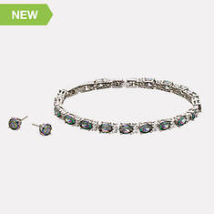 Tennis Bracelet and Earring Set-Mystic